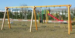 Κούνια ξύλινη παιδιών 4 θέσεων