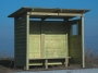 Wooden bus-stop from treatment wood