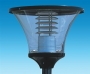 Pole-top luminaire trapezoid with blind